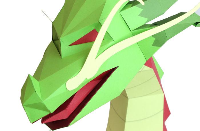 3D paper Asian Dragon 2