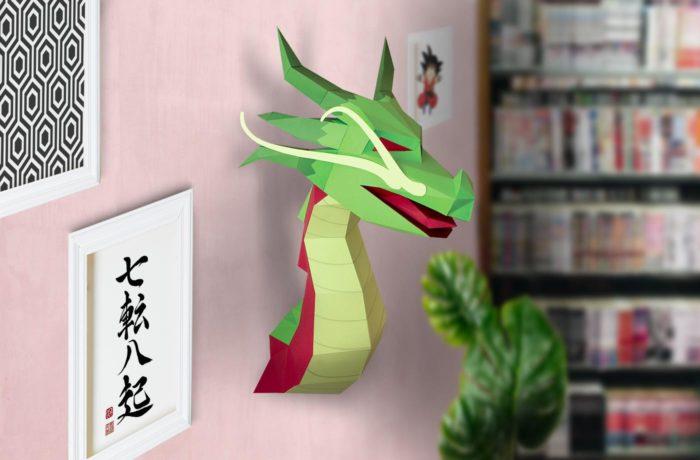 3D paper Asian Dragon 4