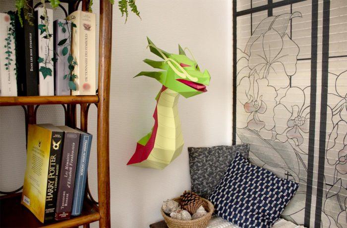 3D paper Asian Dragon 1