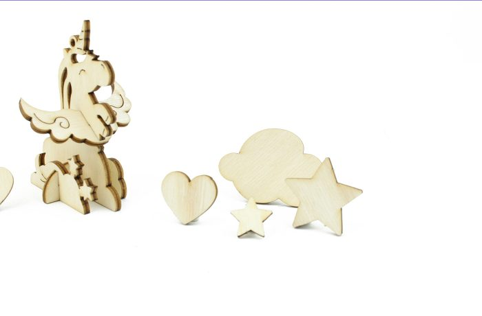 Wooden Unicorn Clouds Thingamajig 3