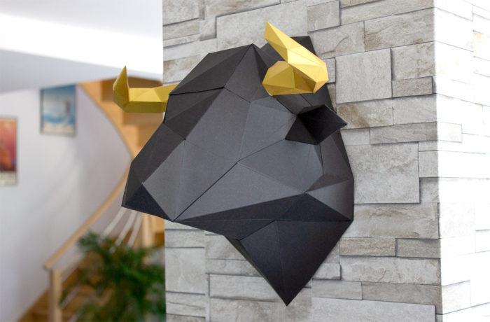 3D paper bull 2