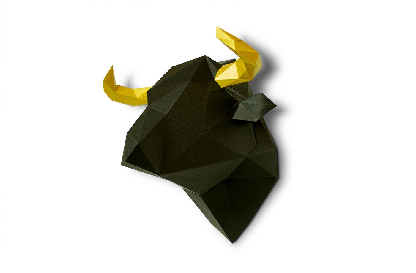 taureau en papier