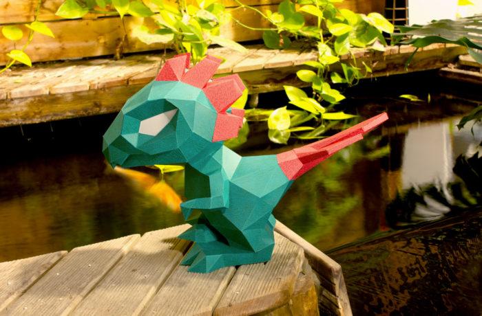 Petit dino en papier 3D 2 3701310203002