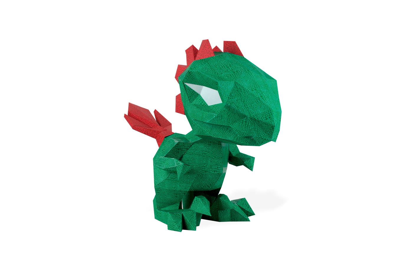 Petit dino en papier 3D 7 3701310203002