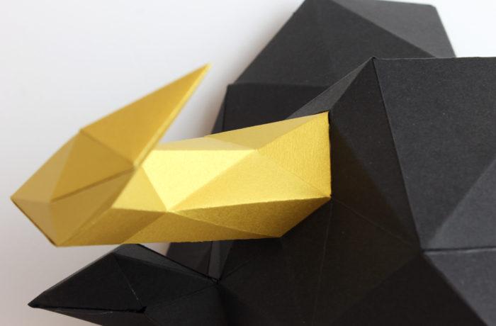 3D paper bull 4