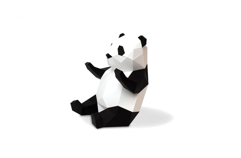panda en papier