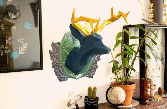 Cerf en papier indigo Collector 2 3701310203675