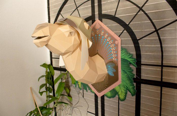 Dromadaire en papier 3D 2 3701310201916