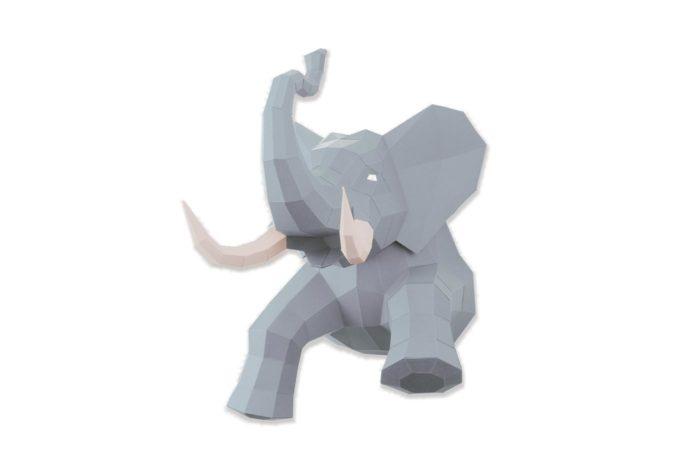 Elephant en papier 3D 15 3701310203729