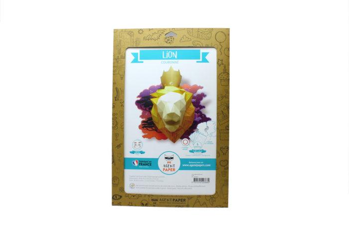 Lion en papier fond de carte 5 3701310203682