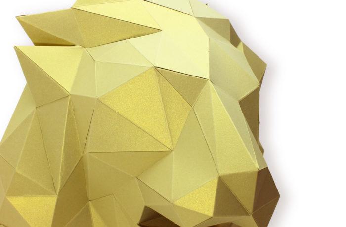 Tête de lion en papier 3d 3 3650049002854