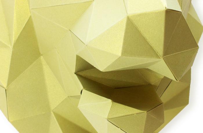 Tête de lion en papier 3d 4 3650049002854