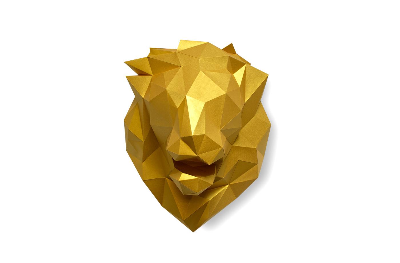 Tête de lion en papier 3d 7 3650049002854