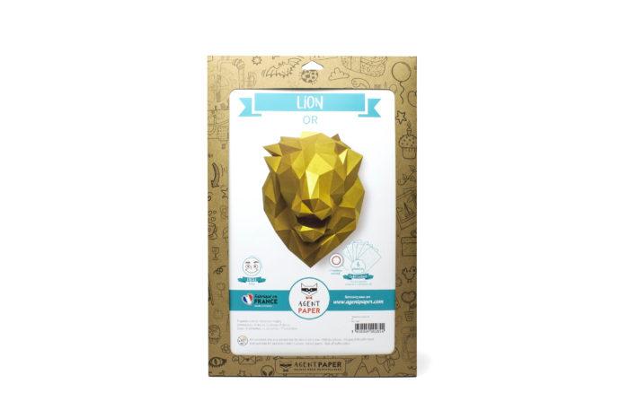 Tête de lion en papier 3d 6 3650049002854
