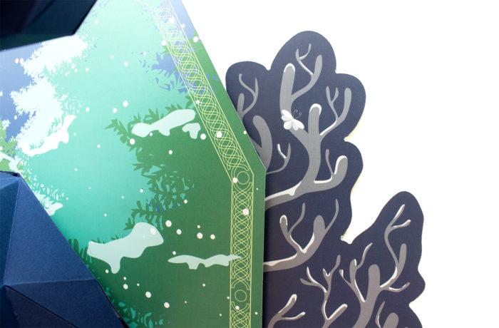 Cerf en papier indigo Collector 7 3701310203675