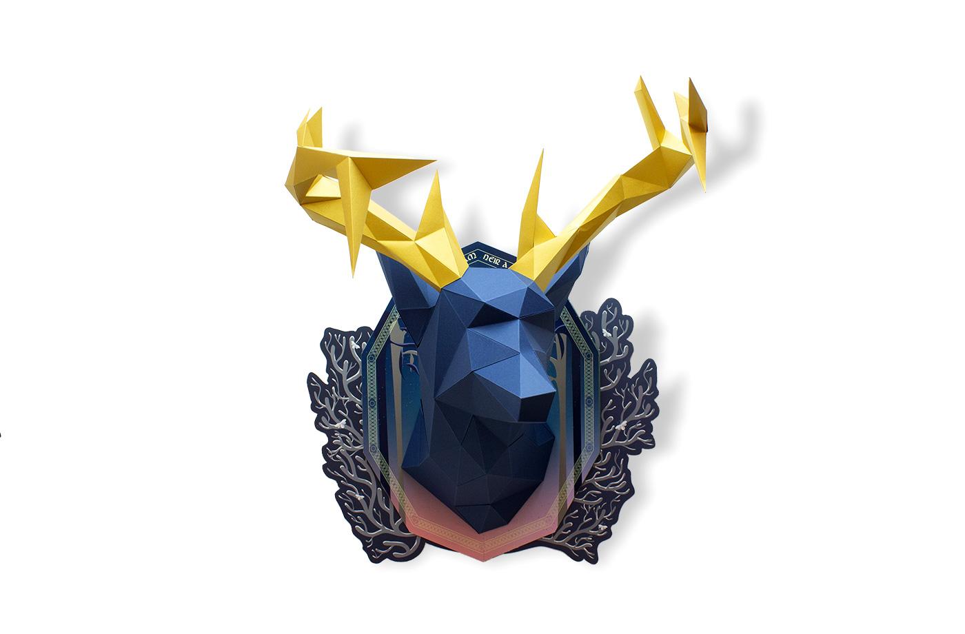 Cerf en papier indigo Collector 9 3701310203675
