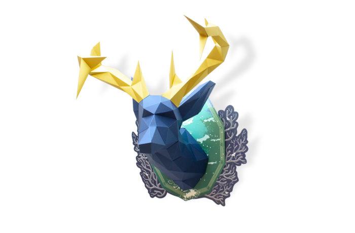 Cerf en papier indigo Collector 3 3701310203675