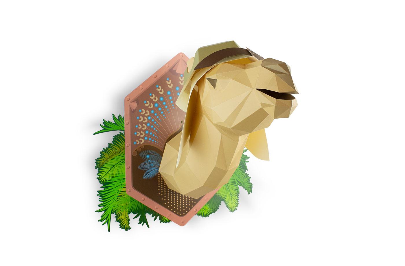 Dromadaire en papier 3D 7 3701310201916