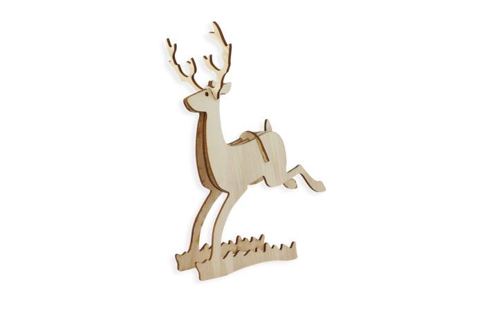 Petit renne en bois 1 3701310203743