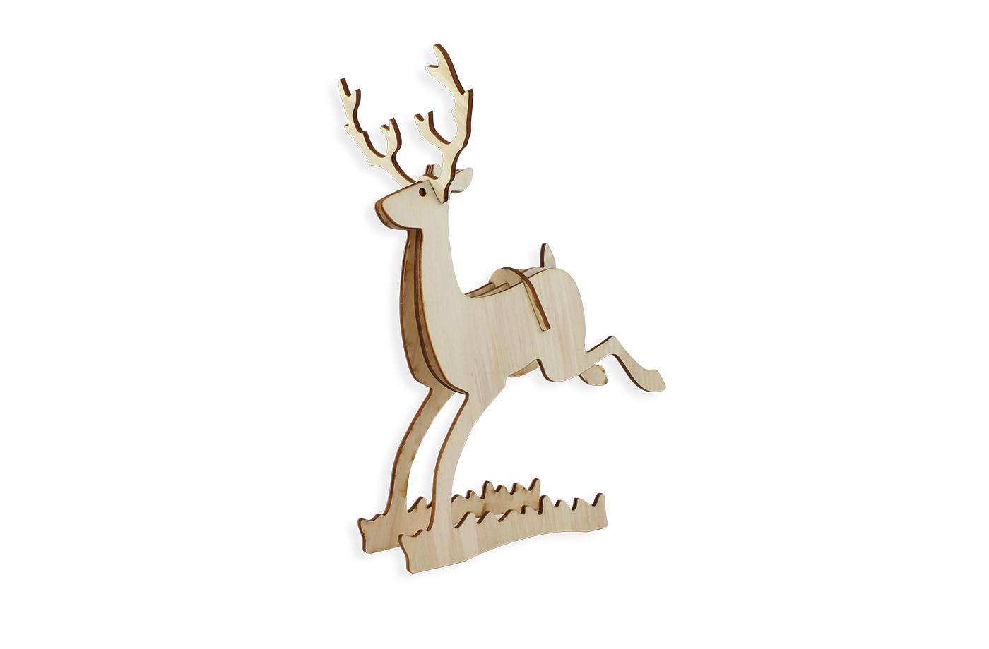 Petit renne en bois 7 3701310203743