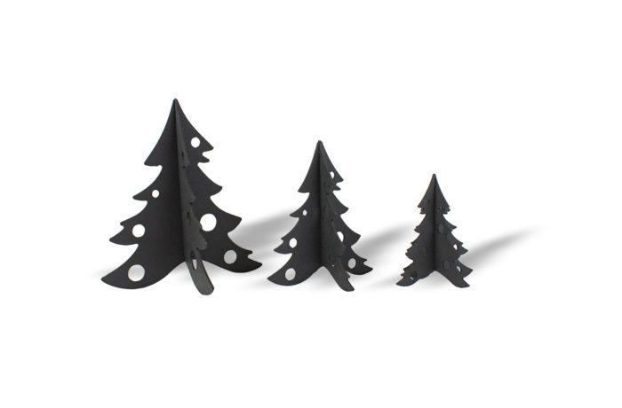 3 Sapins en carton noir 1 3701310203361
