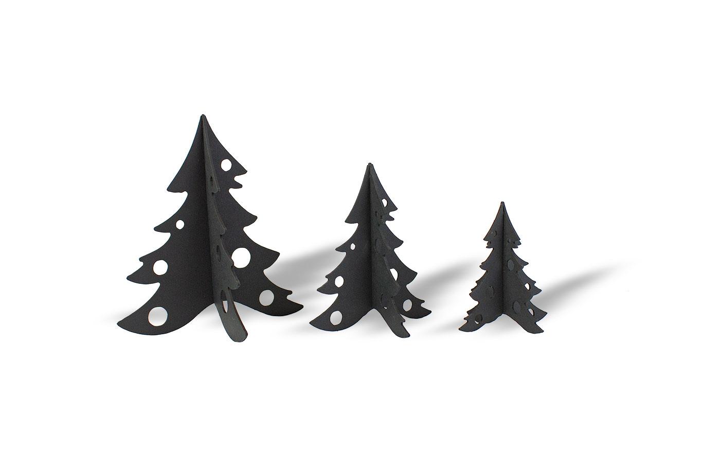 3 Sapins en carton noir 7 3701310203361