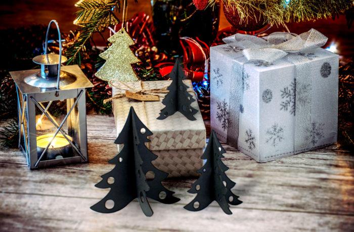 3 Sapins en carton noir 2 3701310203361
