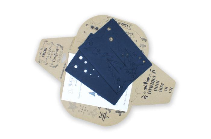 3 Sapins en carton noir 6 3701310203361