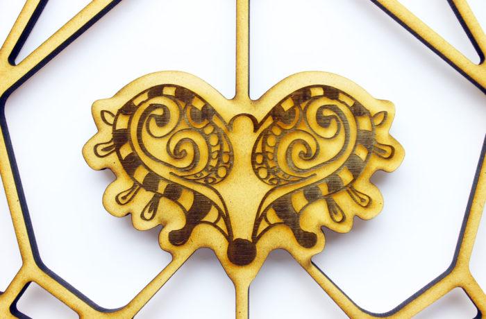 Trophée géométrique Taureau gravé 3 3701310204023