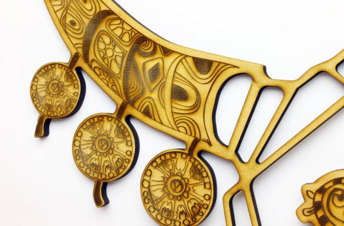 Trophée géométrique Taureau gravé 4 3701310204023