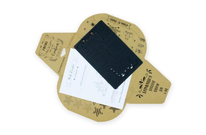 Traîneau en carton noir 6 3701310203699