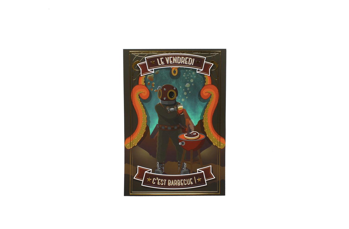 Affiche Vendredi Barbecue 5 3701310202807