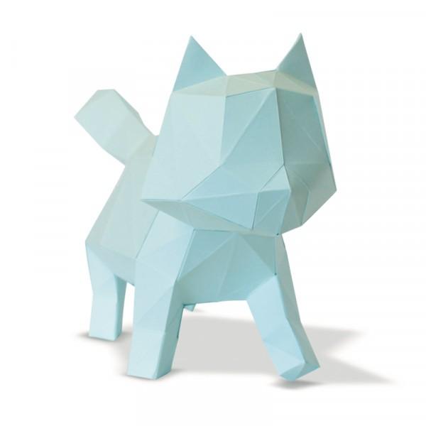 Chat en papier 3D