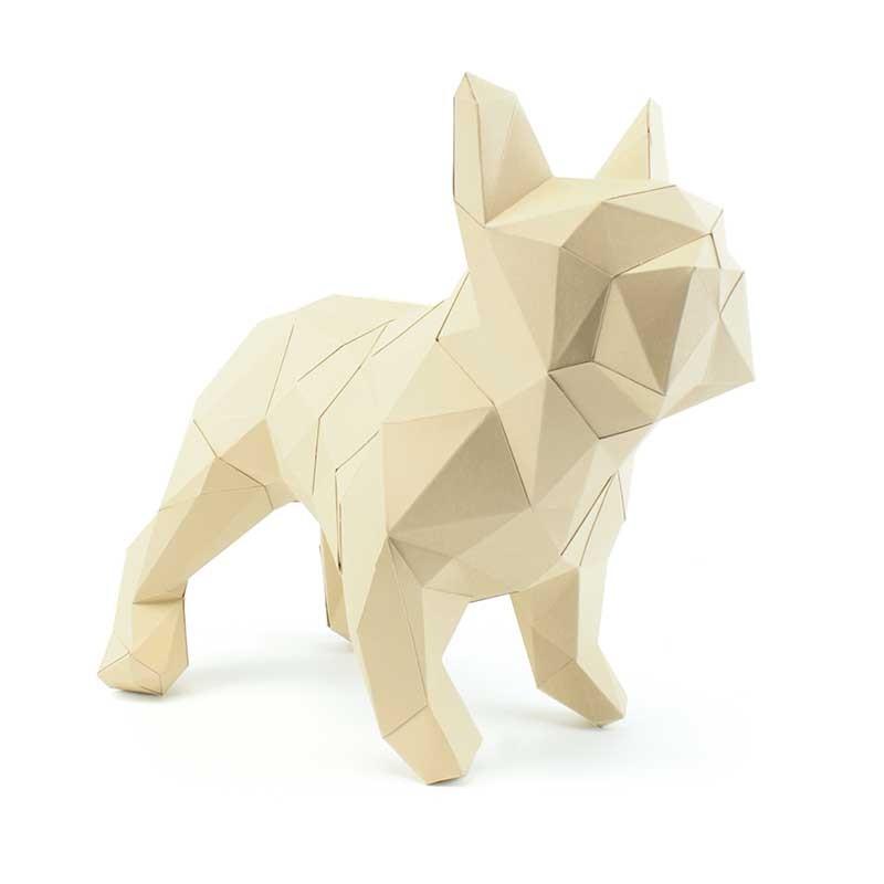 Bouledogue en papier 3D 11 3760271836599