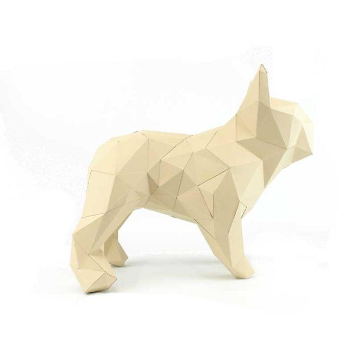 Bouledogue en papier 3D 5 3760271836599