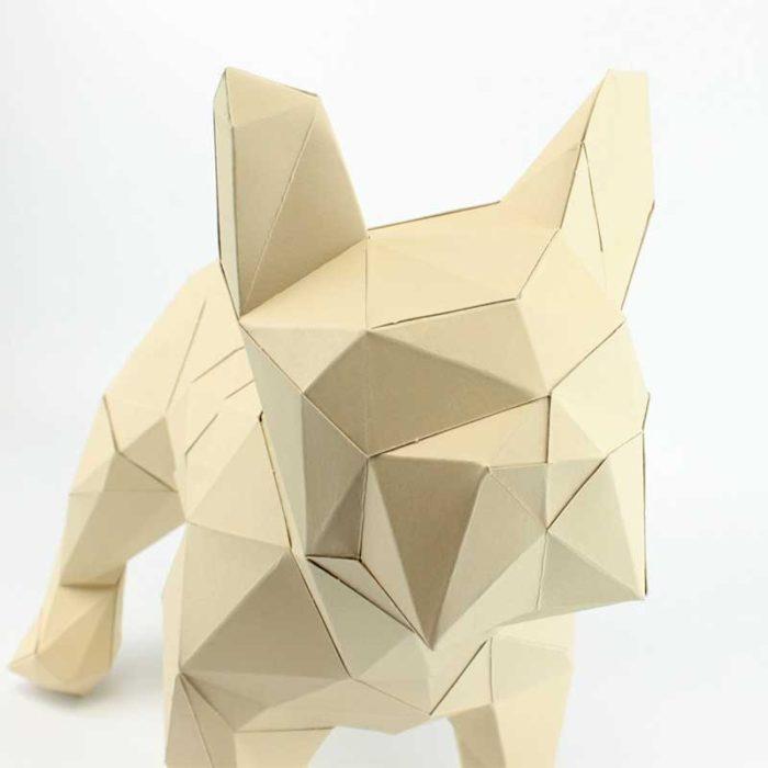 Bouledogue en papier 3D 6 3760271836599