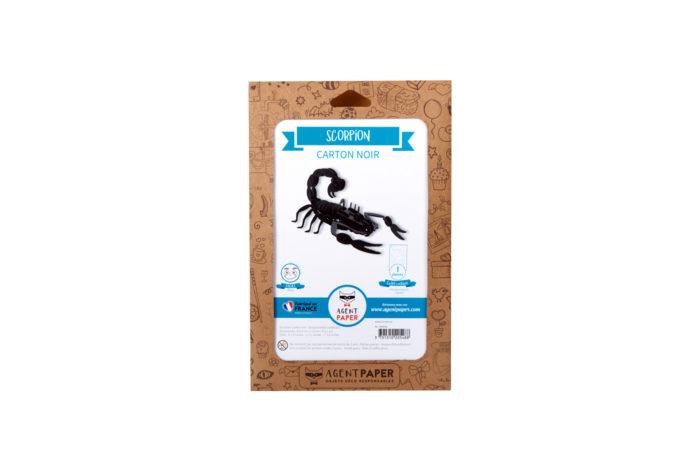 Scorpion en carton noir