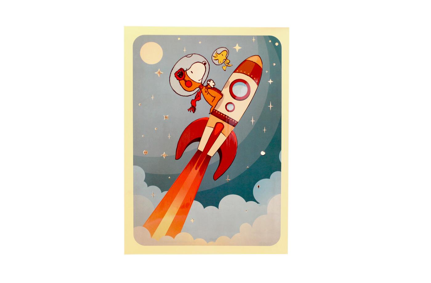 Affiche Snoopy Fusée 2