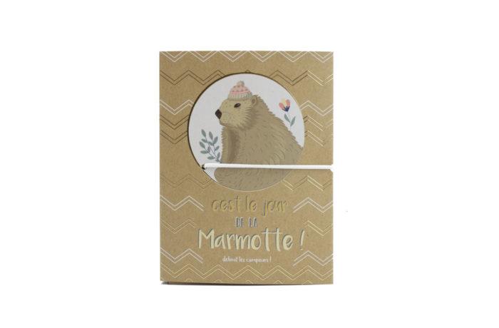 Carnet kraft Marmotte 1