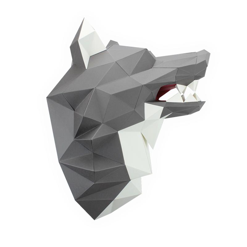 Loup en papier 3d 6 3760271831792