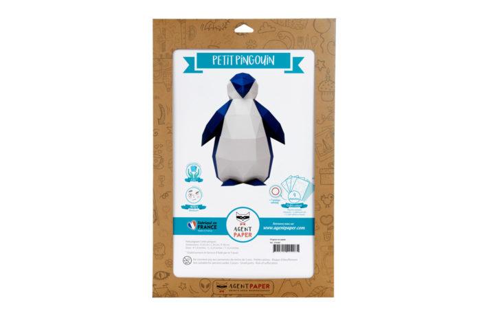 Pingouin en papier 3D 3