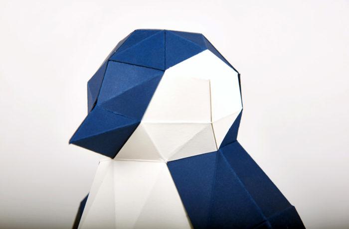 Pingouin en papier 3D 2