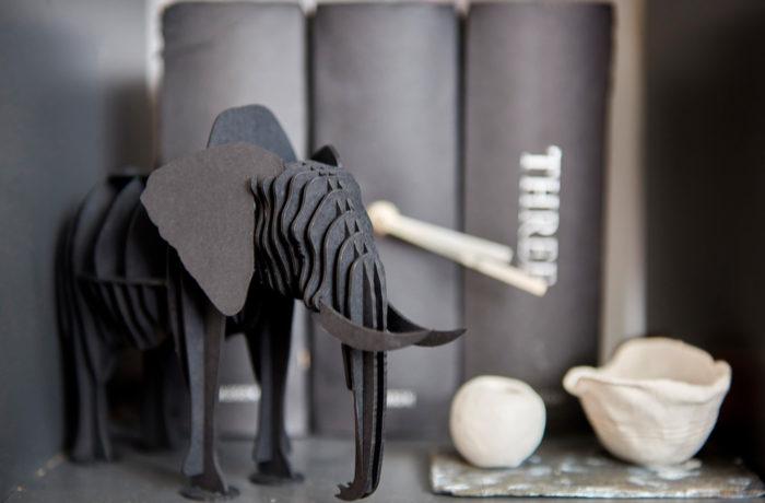 Elephant en carton 2