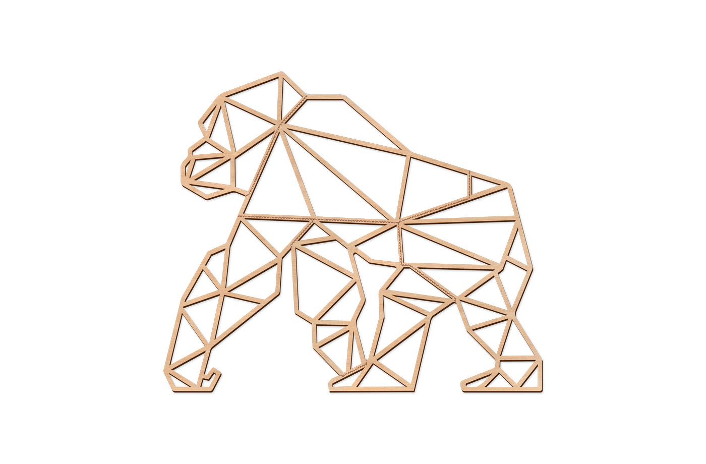 Trophée Géométrique Gorille XL 3