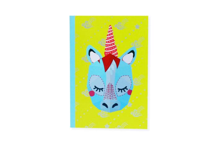Carnet mini trophée licorne
