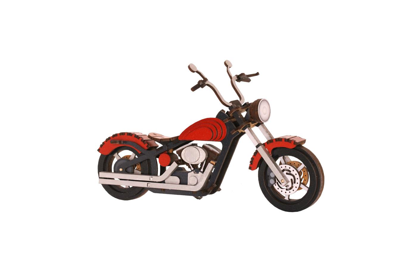 Motocyclette en bois 5