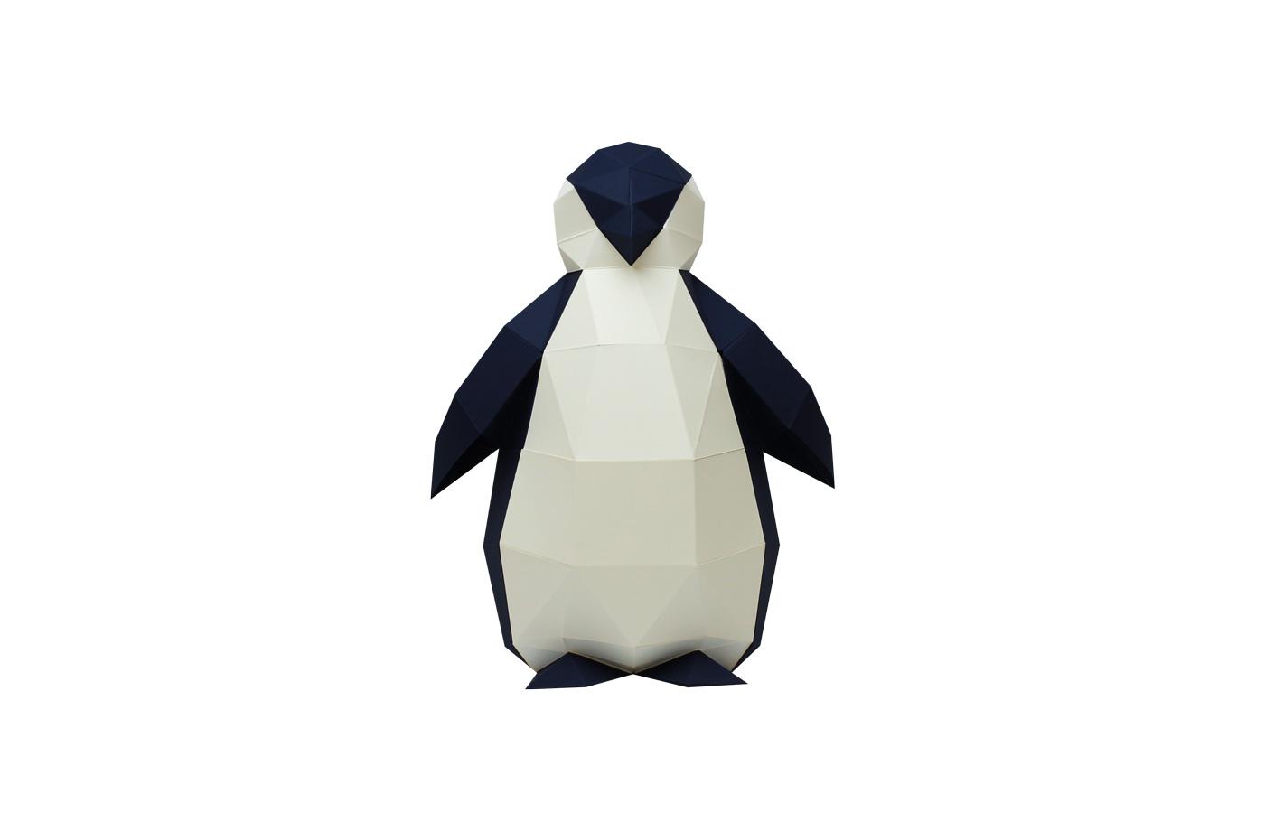 Pingouin en papier 3D 4