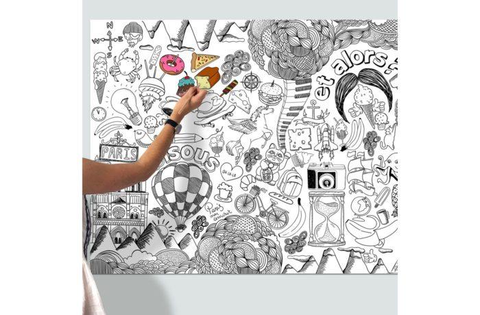 Poster psyché à colorier 1200 x 800