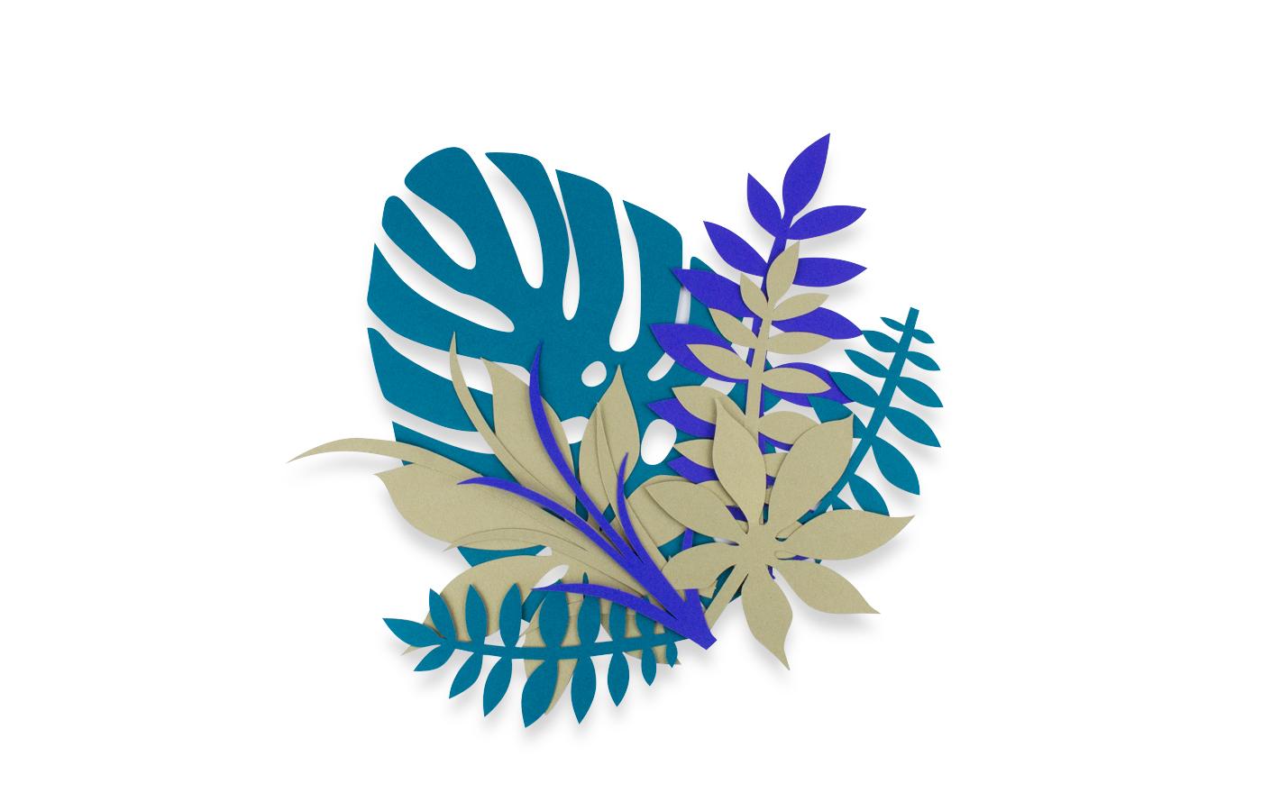 Kit de feuilles exotique chic 4 3760271838555
