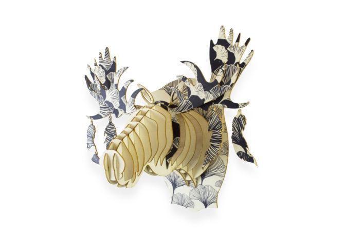 Trophée bois Elan Japon 1 3760271838562